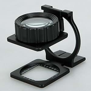20X de escritorio plegable de metal Lupa Lupa Soporte Medida Escala lupa