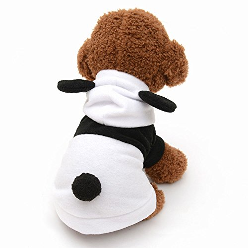Efanr Pet Hoodie Puppy Cute Panda Costume Small Dog Cat Clothes Winter Warm Outwear Doggy Jumpsuit Coat Apparel Warm Pet Costume (XS)