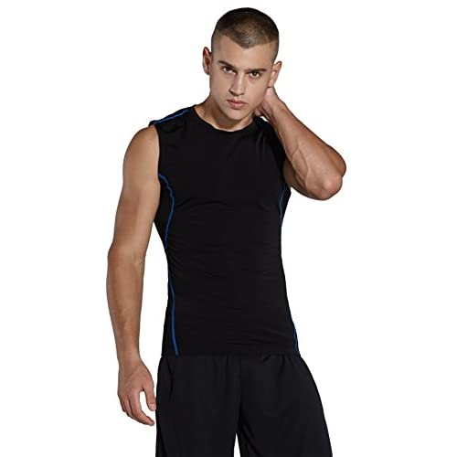 Komprexx Shirt de Compression Homme Sans Manches Débardeur de Sport pour Fitness Respirant confortable - M001V