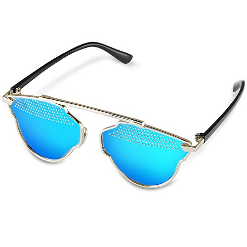 Goliath Ronin Cat Eye Mirrored Flat Lenses Street Fashion Metal Frame Women - Are Fashion Latest In Which Sunglasses