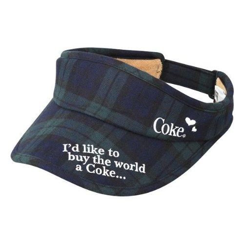 GOLF TODAY掲載 Coca-Cola(コカ?コーラ) ゴルフ レディースチェック柄サンバイザー グリーン [ウェア&シューズ]