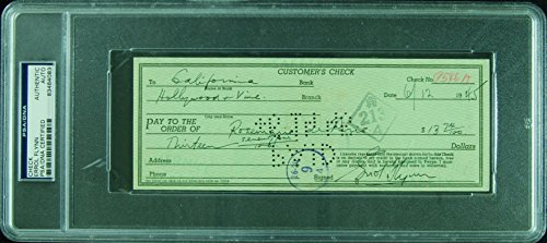 Eroll Flynn Signed Check (1945) (PSA/DNA)