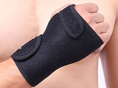 #1 Night Wrist Support Brace for Carpal Tunnel Syndrome by MONALE - Tendonitis - Arthritis - with Removable Splint & Adjustable Support Wrap - Right Hand - (Carpal Tunnel Syndrome Wrist Support)