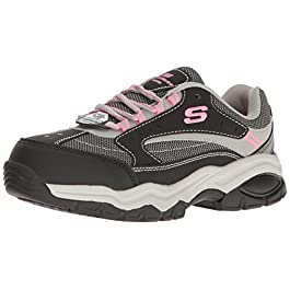Skechers for Work Women's Bisco Slip Resistant Work Shoe