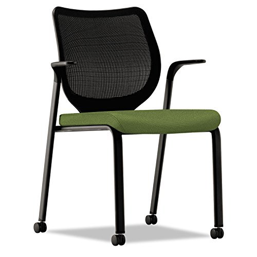HON N606NR74 Nucleus Series Multipurpose Chair, Black ilira-Stretch M4 Back, Clover/Black - Nucleus Series