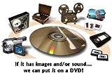 Video Transfer Service (VHS, 8mm, 16mm, Hi-8, MiniDV) to DVD or USB - 1 Tape