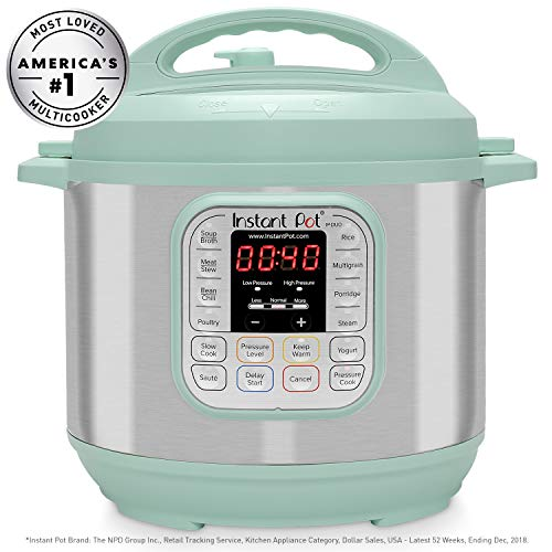 Instant Pot Duo 7-in-1 Electric Pressure Cooker, Slow Cooker, Rice Cooker, Steamer, Saute, Yogurt Maker, and Warmer|6 Quart|Teal|11 One-Touch Programs
