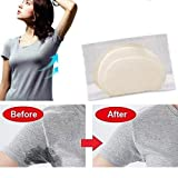 50/100/200 PCS Disposable Underarm Armpit Sweat Perspiration Pads Deodorant Clothing Shields - Block Your Sweat (100 Pairs)