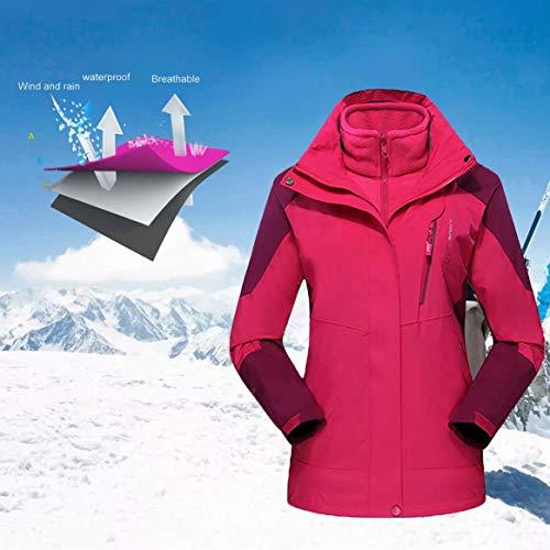 Sport Trekking Delicacydex Polaire intérieure Unisexe en 3 randonnée Plein imperméable Camping Pull l'eau Hiver Ski Couche Vestes Veste Chaud Manteau à air qp0qA
