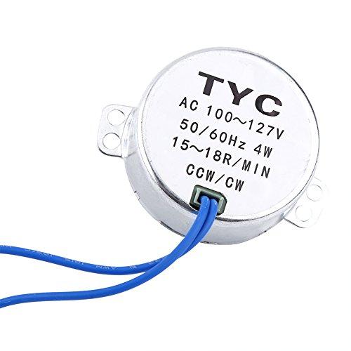 Turntable Synchronous Synchron Motor 50/60Hz AC 100~127V CCW/CW 4W (15-18RPM)