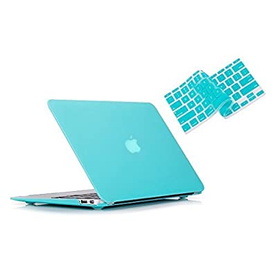 "Ruban - Air 13-inch 2 in 1 Soft-Touch Hard Case Cover and Keyboard Cover for Macbook Air 13.3"" Models: A1369 / A1466"