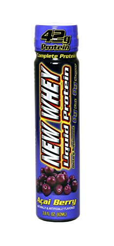 New Whey 42 Grams Liquid Protein Dietary Supplement, Acai Berry, 3.8 Ounce (12 Count)