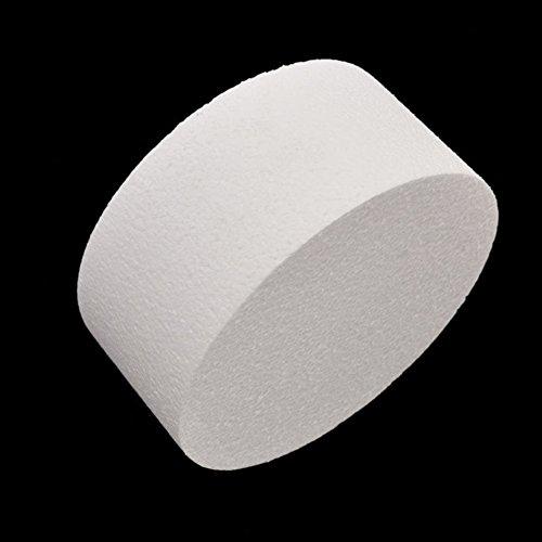 Yamalans 4/6/8inch Round Styrofoam Foam Cake Sugarcraft Decor Practice Model Cake Polystyrene Foam for Wedding Display Window, Decorating, Craft White 8 by Yamalans (Image #4)