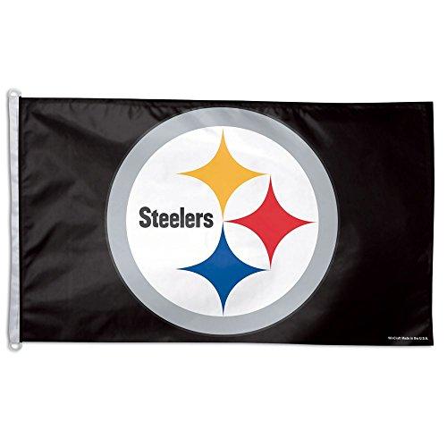 NFL Pittsburgh Steelers WCR78921012 Team Flag, 3' x 5' - Nfl Pittsburgh Steelers Ultimate Fan