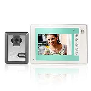 "7"" TFT LCD Color Video Door Phone Doorbell Intercom Camera US Plug"