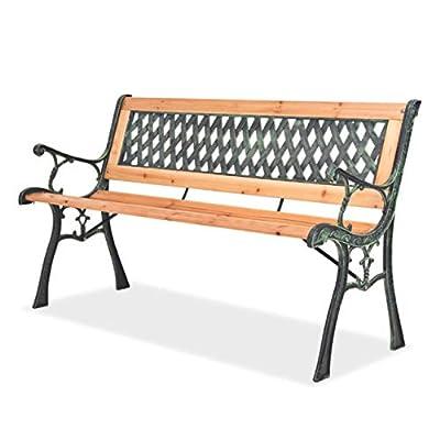 """K&A Company Outdoor Benches, Garden Bench 48"""" Wood"""