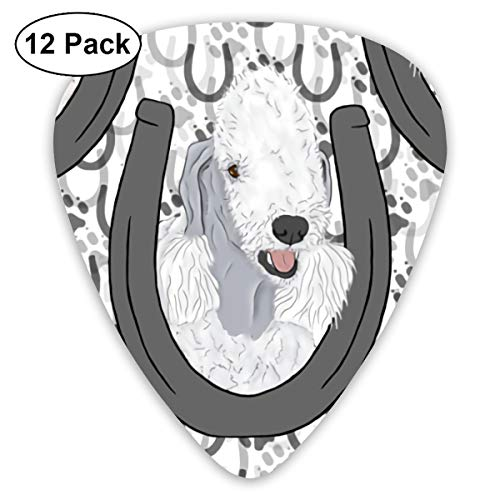 Horseshoe Portraits Of Hounds Ultra Light 0.46 Medium 0.73 Heavy 0.96mm Printed Round Flat Soft Plastic Jazz Electric Acoustic Bass Guitar Pick Accessories Variety Pack