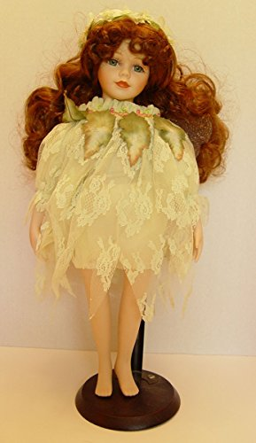 Porcelain Seymour Mann Connoisseur Collection Brunette Fairy Doll 15 Inches Tall