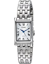 Citizen Womens Quartz Stainless Steel Casual Watch, Color:Silver-Toned (Model: EJ6120-54A)