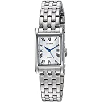 Citizen Women's Quartz Stainless Steel Casual Watch, Color:Silver-Toned (Model: EJ6120-54A)