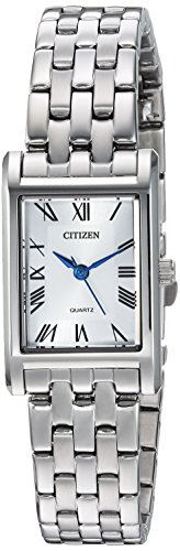 (Citizen Women's Quartz Stainless Steel Casual Watch, Color:Silver-Toned (Model: EJ6120-54A))