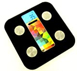 AmericanPumpkins Slim Digital Bathroom Scale - Measures Weight, Body Fat, W ....