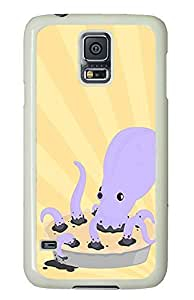 Samsung Galaxy S5 original case Octopie Animal PC White Custom Samsung Galaxy S5 Case Cover