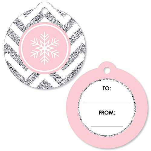 (Pink Winter Wonderland - Holiday Snowflake to and from Favor Gift Tags (Set of 20))