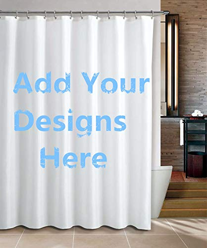 apple&tree Custom Bathroom Shower Curtain Sets with Mat Rugs Personalized(72x72)-Add Your Own Designs Photo Here