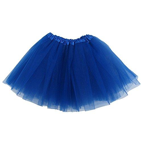 Blue Tutu Costume (Ballerina Basic Girls Dance Dress-Up Princess Fairy Costume Dance Recital Tutu (Royal Blue))