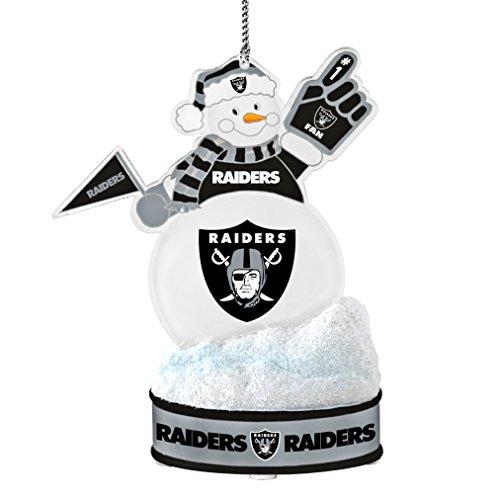 NFL Oakland Raiders LED Snowman Ornament ()
