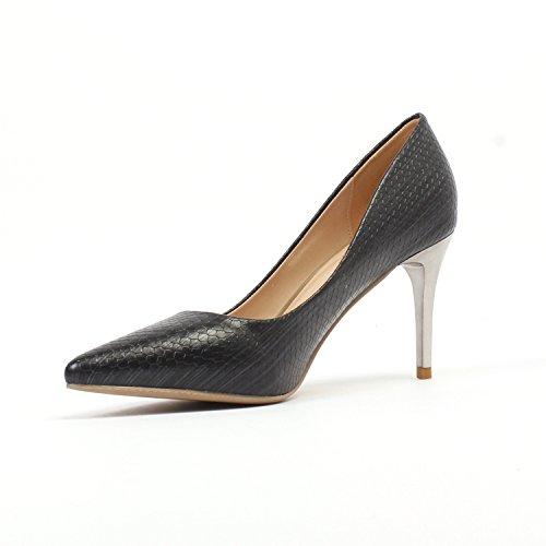 avec GAOLIM À Supérieure Femmes Bien Chaussures Le La noir Fille Haut Noir Cm Unique 8 Chaussures Élevée Lumière 5Cm À 7 Professionnelle avec Talon Bout Haute Chaussures Talon OrA1qXr
