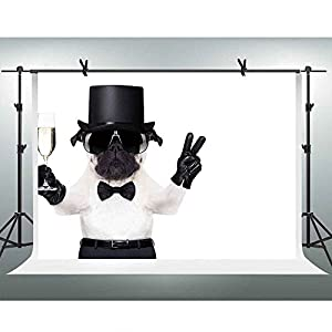 FH 10x7ft Leather Glove Wine Glass Dog Backdrop Belt Sunglasses Hat Photography Background Themed Party YouTube Backdrop Photo Booth Studio Props PFH033