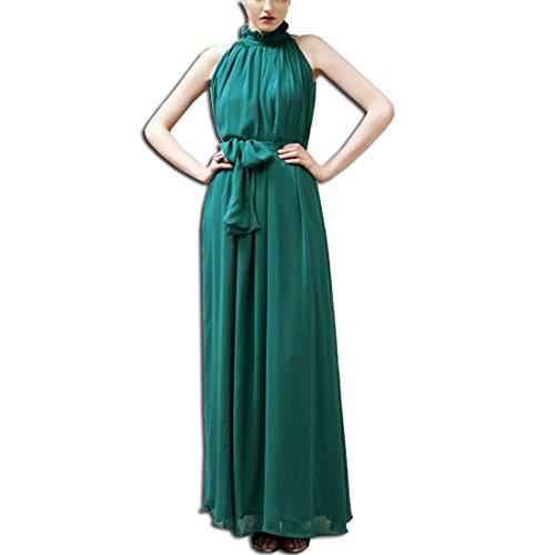 KAXIDY Elegante Vestidos Mujer Vestidos de Noche Vestidos de Cóctel Vestido Largo Verde Negruzco