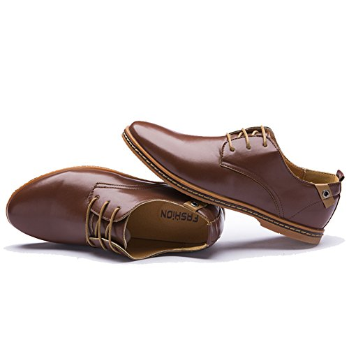 Dearwen Hommes Plus La Taille Des Affaires Robe Chaussures Marron