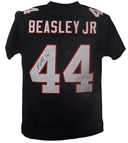 8d0b929fd Image Unavailable. Image not available for. Color  Vic Beasley Autographed Atlanta  Falcons Custom XL Black Jersey JSA