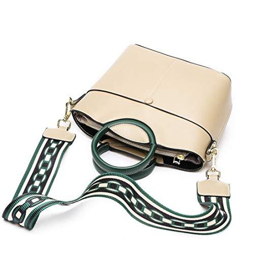Handles colore nero Shoulder Handbags Baachang Ladies Beige znI8xwI