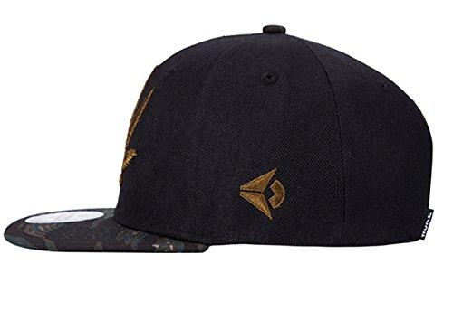 Moda Cap Béisbol Aivtalk Accesorio de Hoja Sombrero de Gorra Cáñamo con Hip Hop Hombre de Mujer Negro Bordado Snapback gZZYn6qS