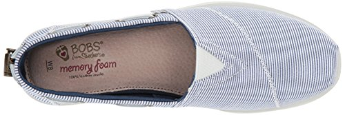 Mujer para Rayas Azul Chill Skechers34485 Sarga a Luxe RTxq7wY