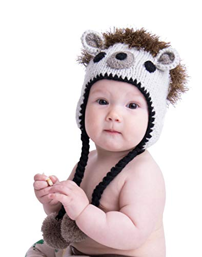 Huggalugs Baby and Toddler Boys or Girls Hedgehog Beanie Hat S -
