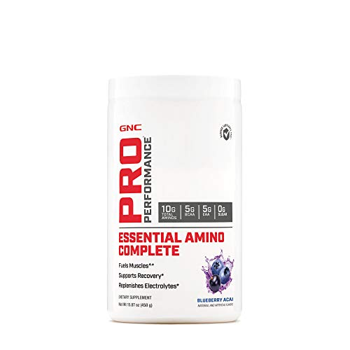 GNC Pro Performance Essential Amino Complete, Blueberry Acai, 15.87 oz, Supports Muscle Recovery best to buy