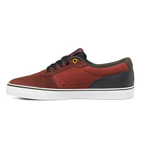 DC , Chaussures de skateboard pour homme - Rouge - Bordeaux,