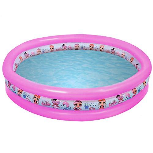 LOL SURPRISE Piscina Redonda surtida 150cm Brazaletes y flotadores Natación y Waterpolo Unisex Infantil, Multicolor…