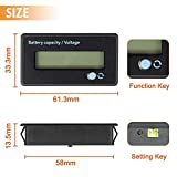 FIXITOK Battery Meter Battery Capacity Voltage