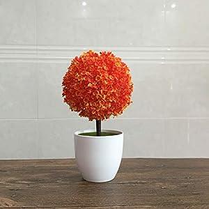 WYZBD Artificial Flowers, Artificial Plants, Potted Plants, Cherry snowballs, Bonsai, Plastic Flowers, Fake Flowers, Desktop Living Room,F 99