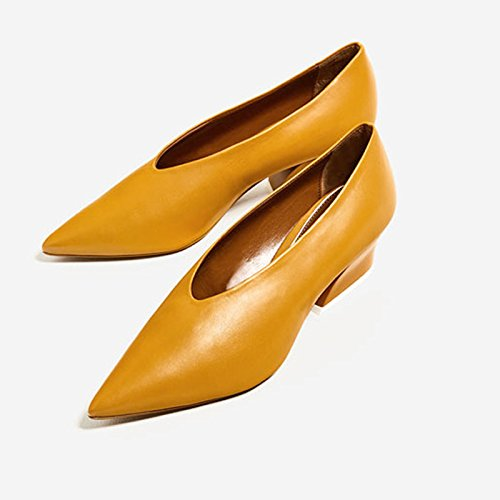 GTVERNH in tacco da delle in lavoro donna pendio autunno scarpe scarpe da il delle e tacco primavera Ginger tacco con scarpe delle piccolo qrrwtY