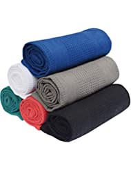 6 Pack Kitchen Towel - Multi colors - 16x28-100% Cotton - Waffle Weave - Absorbent - Quick Dry - Heavy Duty - Drying & Cleaning Kitchen Towels - Machine Washable