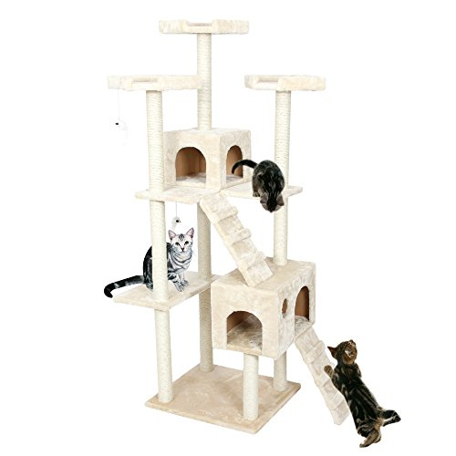 Estate Flowers Brooch (Cat Tree H182cm Cat Toys Cat House Cat Tree Pet Home Furniture Scratching Post Wood Tree Cat Jumping Climbing Frame Cream color .)