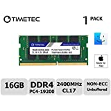 Timetec Hynix IC Apple 16GB DDR4 2400MHz PC4-19200 SODIMM Memory Upgrade for iMac Retina 4k/5K 21.5-inch/27-inch Mid 2017 (16GB)