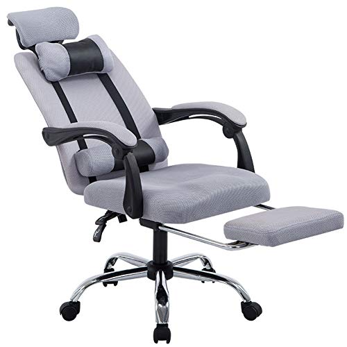 Seat Reclining Racing Cloth - XUEXUE Office Chair, Reclining Net Cloth Boss Staff Pulley Lift Home Computer Chair Racing Esports Chair Armrest Chair High Back Large Seat 360 Degree Swivel Ergonomic Concept Durable and Stable